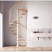Buy cheap Modern Stainless Steel Railing Wooden Spiral Stair Circular Staircases from wholesalers