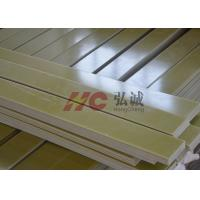 Buy cheap Yellow Fr 4 G10 Laminate Sheet / G10 Plastic Sheet Excellent Heat Resistance from wholesalers
