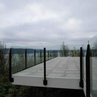 Buy cheap Glass railing Topless deck glass railing stainless steel post glass balustrade from wholesalers