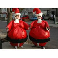 Buy cheap Christmas Santa Sumo Suits , Blow Up Sumo Suit For Kids / Adults Xmas Play from wholesalers