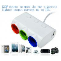 Buy cheap 2015 Latest product 3 car cigarette lighter socket with usb charger adapter from wholesalers
