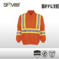 Buy cheap CSA Z96-09 standard hi vis reflecitve sweatshirt for spring or autumn safety clothing workwear product