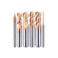 Buy cheap HRC45 Degrees AlTiN Coating Carbide Ball Nose End Mill for Steel Iron and Aluminum Processing from wholesalers