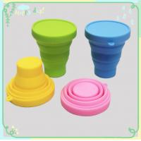 Silicone Rubber Products silicone folding cup with lid for picnic / home /