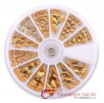Buy cheap Nail Decoration Check Nailhead Studs Golden from wholesalers