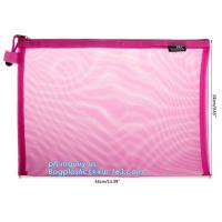 Buy cheap Mesh Zipper Bags, 3 PCS, Water-Resistant A4 Paper File Storage Office Document Bags from wholesalers
