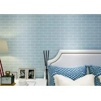 Buy cheap Blue Pre - pasted Self Adhesive Wallpaper Non woven , 3D Brick Wallpaper from wholesalers