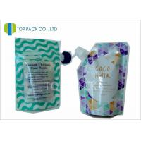 Buy cheap Custom Made Plastic Standing Spout Pouch , Zipper Closure Liquid Pouch Packaging Food Use from wholesalers
