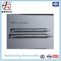Buy cheap 45mm Full extension soft closing ball bearing drawer slide,soft close slide,telescopic channel from wholesalers