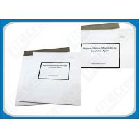 Buy cheap White Puncture Resistance Polythene Envelopes , Waterproof Self-Seal Plastic Shipping Mailers from wholesalers