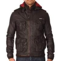 Buy cheap S M L XL nylon soft Shell winter warm Fleece Lined Leather jacket for men from wholesalers