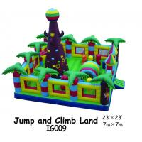 Buy cheap Kids Jumping / Climbing Land Inflatable Fun City With Big Brown Tree 2 Years Warranty from wholesalers