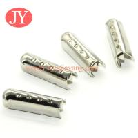 Buy cheap jiayang nickle metal tips for shoelace /drawstring / cord from wholesalers