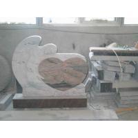 Multi Color Angel Memorials Headstone , Custom Granite Headstones With Sculpture