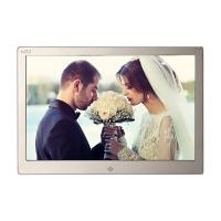 Buy cheap Golden HD Digital Photo Frame With Remote Control / 12.3 Inch Led Digital Photo Album from wholesalers