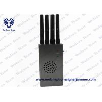 Buy cheap Grey 4G LTE Cell Phone Signal Jammer Portable With  4800mA / H Ni - Ion Battery from wholesalers