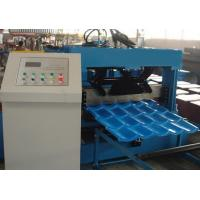 Buy cheap Glazed Roof Tile Roll Forming Machine Use 22 Roll Forming Stations For Metal Roof Panel in the Warehouse Buildings from wholesalers