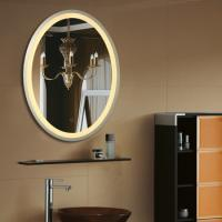 Buy cheap Ss Frame Oval Led Bathroom Mirrors With Touch Switch Bluetooth And Clock from wholesalers