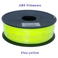 Buy cheap FluoYellow 3D Printer Filaments ABS 1.75mm 2.2Lb 1Kg/spool Consumables from wholesalers