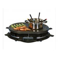 Buy cheap Home non-stick Black Electric BBQ Grill XJ-3K076PO with fondue set from wholesalers