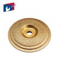 Buy cheap 125mm Vacuum Brazed Diamond Cup Wheel , Metal Bond Diamond Grinding Wheels from wholesalers