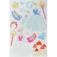 Buy cheap Lovable Japanese Puffy Stickers 3D Princess For Mobile Phone from wholesalers