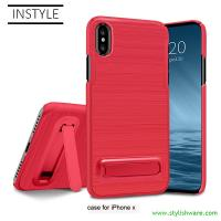 Buy cheap Colorful 2 in 1 PC Hard Type Mobile Phone Case Cover with Stand for Samsung and All iPhone from wholesalers