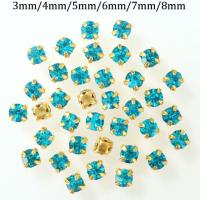 Buy cheap Gold Claw Crystal Rhinestones Settings Sew on Bags Belts Gift Packing Shoes Hat Ornaments Clothing Accessories Square from wholesalers