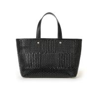 Buy cheap Wow Nice Black Weave Tote Bag Emboss Knitting Pattern on Pu Succinct Italy Design Shoulder Handbag for Women Laptop Bags from wholesalers