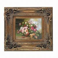 Buy cheap PU Painting/Mirror Frame, with Hand Carving Floral Molding from wholesalers