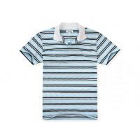 Buy cheap Bamboo Cotton Anti Pilling Mens Striped Polo Shirts Black White Strips Founded from wholesalers