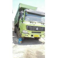 Buy cheap 4x8 Drive Wheel Second Hand Dump Truck Howo Green Color Big Bucket Working Trucks from wholesalers