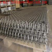 Buy cheap Woven Screen Mesh/Vibrating Screen Mesh Used in Vibrating Stone Crushers /Plain Weave Galvanized Stainless Steel Crimped from wholesalers
