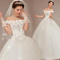 Buy cheap White Sweetheart Lace Ladies Wedding Dresses / Womens Princess Wedding Gowns from wholesalers