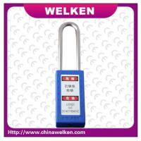 Buy cheap Manufacture keyed to differ ,long shackle ABS safety padlock from wholesalers