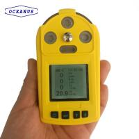 Buy cheap Portable multi gas detector, air dangerous measure, for LPG, LNG, combustible gas, toxic gas, O2, CO,IP65 product