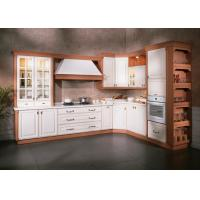 Buy cheap Italian Design PVC / Thermofoil Modular Kitchen Cabinets With Marble Countertops Custom from wholesalers