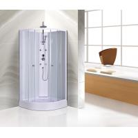 Buy cheap Customized Corner Shower Stall , Curved Corner Shower Units White Painted Profiles from wholesalers