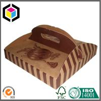 Buy cheap Custom Brown Color Printed Pizza Box with Handle; Food Grade Paper Pizza Box from wholesalers