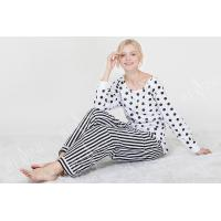 Buy cheap Comfortable Dotted Womens Pyjama Sets Long Sleeve Top And Pants Soft Handfeel product