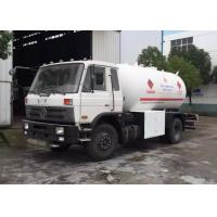 Buy cheap 10000 Liter 5 MT Dongfeng LPG Gas Tanker Truck Fuel Delivery Tanker For Butan Gas Delivery / Refilling from wholesalers
