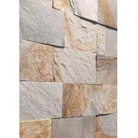 Buy cheap Natural slate culture stone sawn cut split China yellow beige color product
