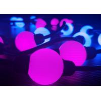 Buy cheap PVC Programmable Rgb LED Christmas Lights 28MM Length For Holiday Club from wholesalers