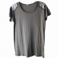 Buy cheap Girl's T-shirts in Stocklot, with Round Neck, Made of 100% Cotton from wholesalers