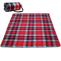 China Checkered Portable Beach Mat , Water Repellent Pocket Picnic Blanket on sale