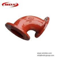 Buy cheap BS EN545 ductile iron elbow pipe fitting for water from wholesalers