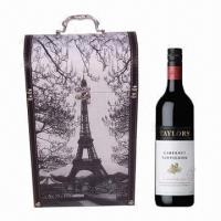 Buy cheap Antique Wine Box, Made of Canvas and MDF, Popular Design, Eco-friendly from wholesalers
