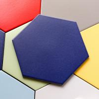 Buy cheap Colored Glaze Hexagon Ceramic Tile Kitchen Bathroom Hex Mosaic Floor Tile product