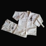 Buy cheap New ultralight facbric ITF taekwondo uniform white colour TKD uniform for kids taekwondo gi from wholesalers