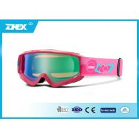 Buy cheap Pink Snow Skiing Goggles PC Coating  Lens Protective Ski Eyewear Glasses from wholesalers